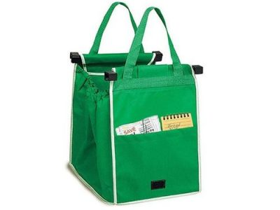 1PCS Foldable Nonwoven Fabric Shopping Bag Eco Grocery Cart Trolley Handle