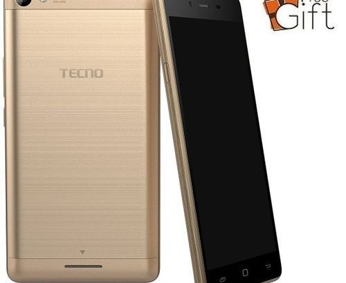 Tecno L8 Lite 5-Inch IPS (1GB, 16GB ROM) Android 6.0 Marshmallow, 8MP + 2MP 3G Smartphone + Free Rin