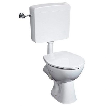 COMPLETE Gustavsberg Water Closet, all White with Washhand Basin