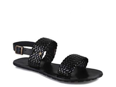 Pgolden Signatures Mens Black Weaves Sandals