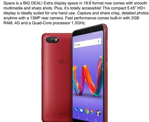 "Wiko Wiko Harry 2 Smartphone 2G+16G Red 5.45"" HD+ Touch Screen Dual SIM 5+13MP Cam"