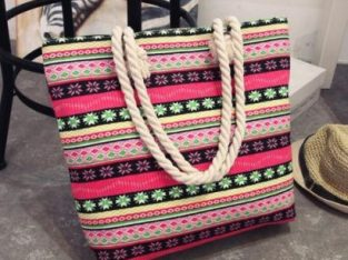 Fashion Ladies Female Hand Bag Bohemia Canvas Shoulder Bag