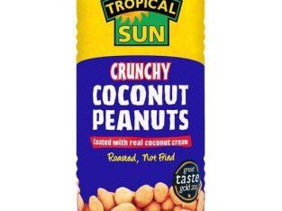 Tropical Sun Crunchy Coconut Peanuts 330g X24