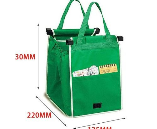Foldable Nonwoven Fabric Shopping Bag Cart Food Trolley