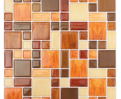 3D Tile Brick Mosaic Wall Sticker Self-adhesive Kitchen Bathroom Home Decor