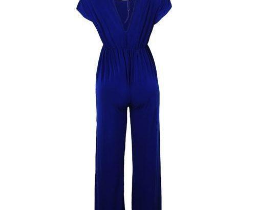 Lydiaz Casual Elastic BandJumpsuit – Royal Blue