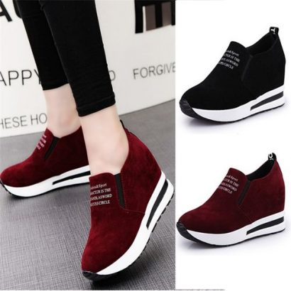 AFS Fashion Womens Casual Leather Sneakers Shoe
