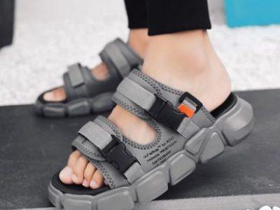 Unisex Fashion Platform Slippers Sports Sandals -Grey