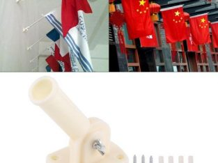 30mm Dia Adjustable Plastic Wall Mounting Flag Pole Holder Flagpole Bracket Windsock Base