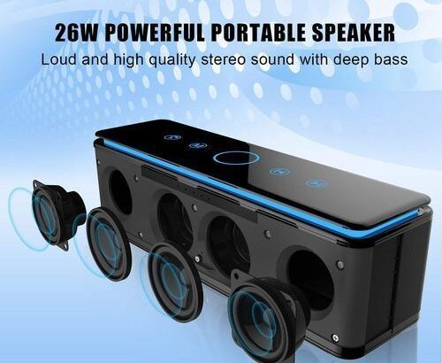 Zealot S7 Pro Portable Wireless Touch Control Bluetooth Speaker 4.1 With 10000maH Powerbank, Loud Cl