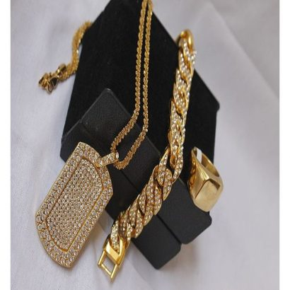 Fashion Pendant Hand Chain With Ring