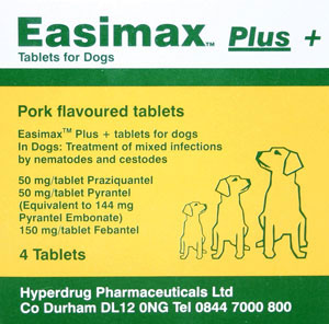 Easimax Plus Dog Wormer Tablets (pack of 4)