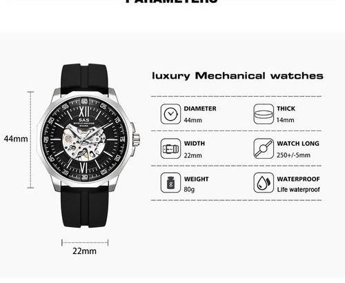 Sas Luminous Silicone Manual Mechanical Watch