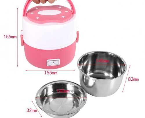 2 Layers Electric Heated Lunch Box – Food Warmer