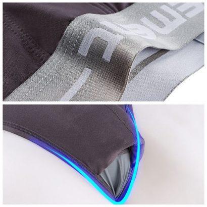 Men Underwear Briefs Modal 3D Breathable Low Waist,White
