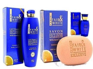 Exclusive Fair and White Vitamin C Cream, Soap, Fair and White Serum