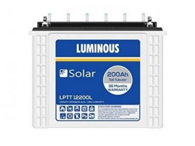Luminous 200AH/12V Tubular Battery