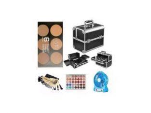 Make Up Box + 24 Set Brush + 6 In 1 Powder Palette + Morphe Jacklyn Hill Eyeshadow + Mini Rechargeab