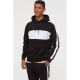Sprince Clothing White Patched / Stripe Black Hoodie