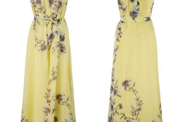 Women Cold Shoulder Floral Evening Party Maxi Dress