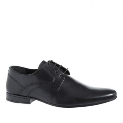 Dunnes Men's Black Leather Shoes