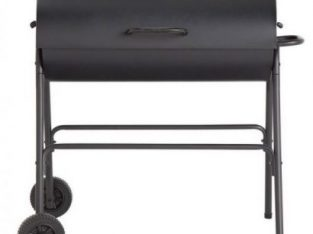 Charcoal Oil Drum BBQ – Cover, Utensils and Adjustable Grill