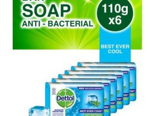 Dettol Soap Best Ever Cool – 110g (Pack Of 6)
