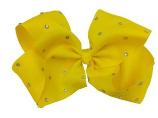 Headwear Hair Clip Ribbon Cloth Rhinestone With Alligator Clip Hairbow Decoration Bowknot