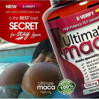 Ultimate Maca Ultimate Maca For Breast, Buttocks And Hips Enlargement Supplement Pills