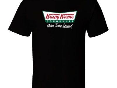 Krispy Kreme Donut Men Black T Shirt Cotton Short Sleeves Shirt Tops