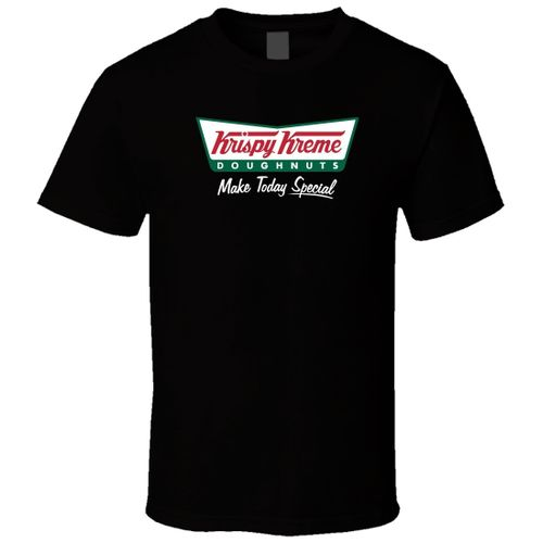 Krispy Kreme Donut Men Black T Shirt Cotton Short Sleeves Shirt Tops