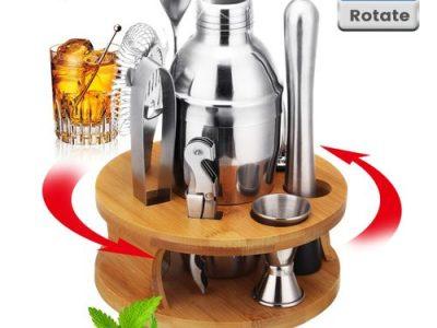 22pcs Pro Cocktail Shaker Boston Maker Bartender Martini Mixer Making Tool Bar