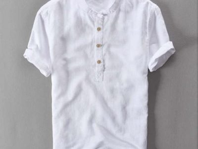 Summer Short Sleeve Linen Vintage Shirts