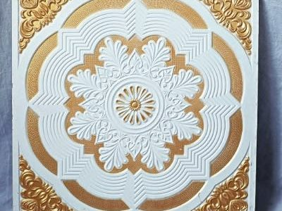 Gold And White Design Pop Ceiling