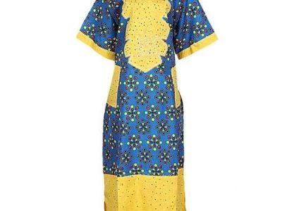 Multicolour Stoned Ankara Mix Long Gown