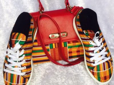 Ankara Sneaker And Bag