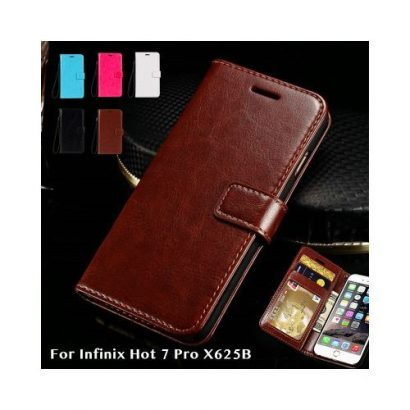 Infinix S4 X626 & Infinix Hot 7 Pro X625B Flip Leather Phone Case With Free Bracket