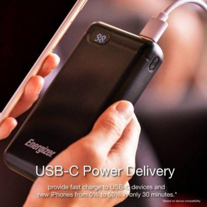 Energizer PD18W 20000mAh Portable Power Bank – Black