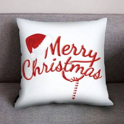 Xmas Style Cotton Linen Pillow Cover Merry Christmas Home Decorative Pillows Case Nordic Happy New