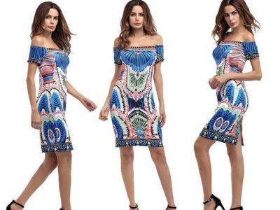 GeneAfrica Short Women Gowns Ankara Style – Multi
