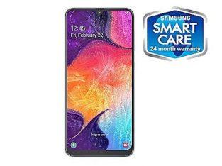 Samsung Galaxy A50 6.4-Inch (4GB,128GB ROM) Android 9 Pie, (25MP+5MP+ 8MP)+ 25MP 4000mAh 4G LTE + 24