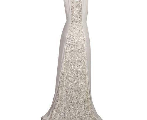 Chiffon Sleeveless Maxi Gown – White