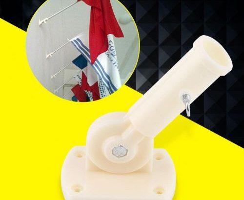 30mm Dia Adjustable Plastic Wall Mounting Flag Pole Holder Flagpole Bracket Windsock Base