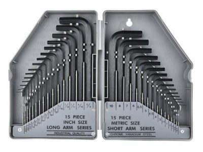 30in1 Inner Hex Key Wrench Torx Allen Key Sets SAE Set Precise Manual Tool Gray