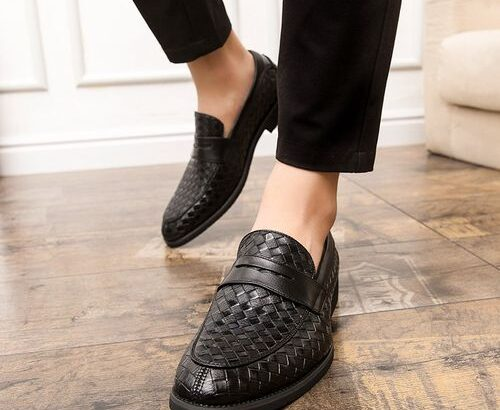 Formal Shoes Low-Top Round Toe Business Casual Leather Shoes