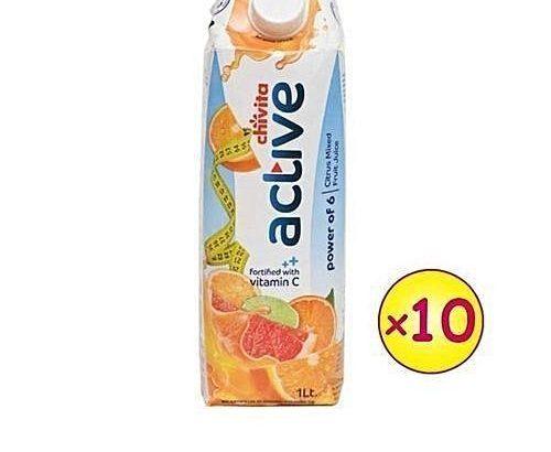 Chivita Chivita Active – Power Of 6 Citrus Fruits (1LTR X 10 PCS)