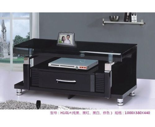 Good Home Furniture Plasma TV Stand Shelve- Black