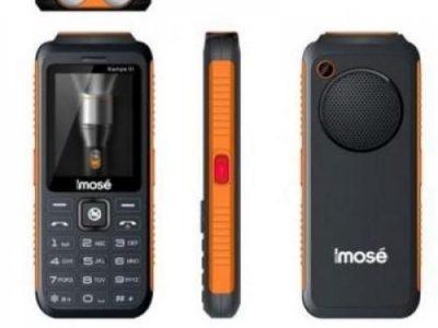 Imose Kampe III 10,000 MAh Power Bank/Triple SIM GSM Phone + Wireless FM Radio – Black (MWFS) + Anti