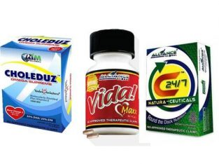 Alliance In Motion Global 3 In1 Hypertension Wellness Pack: Vida Maxx, Choleduz, C247