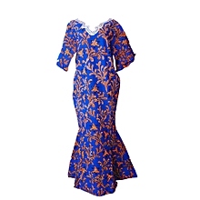 Ankara Senegalese Long Seneglaese Gown With Stones